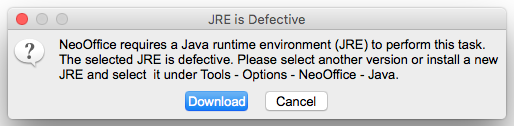 Image:Java not found dialog.png
