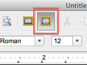 AutoSpell toolbar button