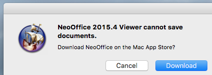 Image:NeoOffice cannot save free edition.png