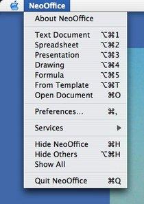 neooffice 1.2 screenshots - neowiki, Presentation templates